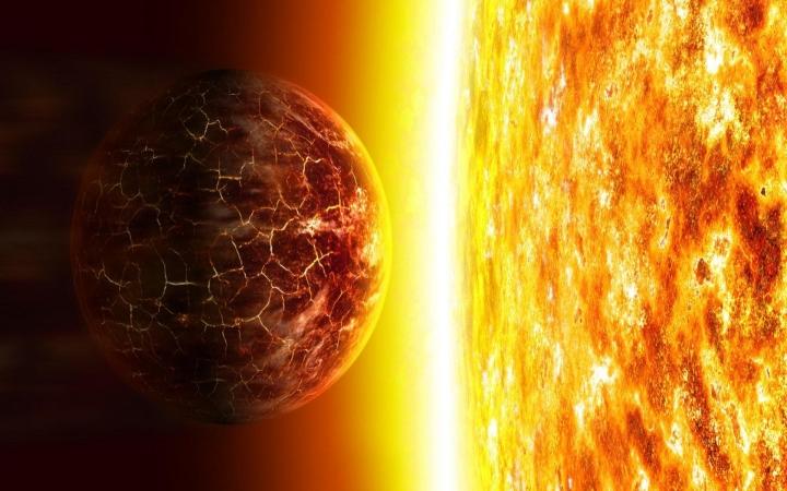 Güneş artık hacmi genişlemeye başlamış ve enerjideki toplam artış dolayısıyla yakın gezegenleri yok etmeye yönelmiştir!..