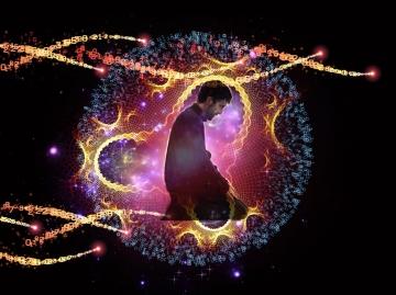 """Die Arbeiten, welche als """"Ibadet"""" (Dienst an Allah) genannt werden, sind dafür da, um dem Gehirn Kraft und Wissen zu geben und dem Körper, welcher eine Art strahlende Struktur darstellt, also der Seele, mit Energie aufzuladen."""