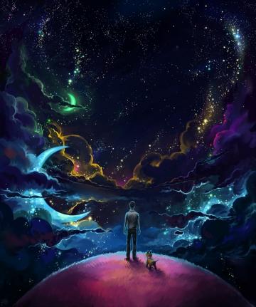 Träume sind die Aktionen vom Sehen, welche nicht auf dem Auge basieren.