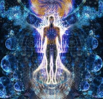 """Also die Essenz deines Bewusstseins, die """"Essenz"""" deines Wesens, ist nicht anders als die Essenz eines Atoms oder einer galaktischen Entität im Mikro- oder Makrokosmos."""