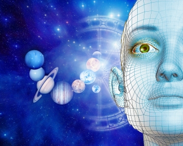 In a sense, the brain is a mechanism that evaluates and interprets waves of various frequencies and cosmic rays in accordance with its internal programming.