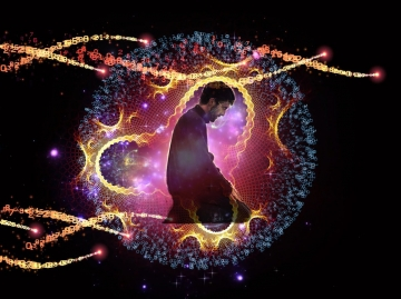 İbadet adı verilen çalışmalar, beyin gücünün, bir tür ışınsal yapı olan bedenine, yani ruhuna yükleyeceği bilgi ve enerji ile ilgilidir.