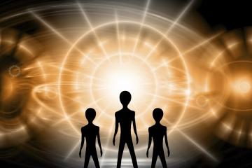 """Haber verildiği üzere """"Cinler yeryüzünde istisnasız tüm insanlara görünecek"""" bir tür uzaylı kimliği ile..."""