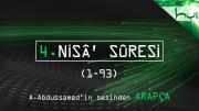 4. Nisâ' Sûresi (001-093) - Kur'ân-ı Kerîm Çözümü (arapça)