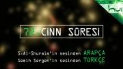 72 - Cinn Sûresi - Kur'ân-ı Kerîm (arapça)