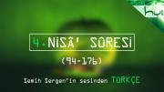 4. Nisâ' Sûresi (094-176) - Kur'ân-ı Kerîm Çözümü