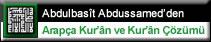 Arapça Kur'ân Çözümü